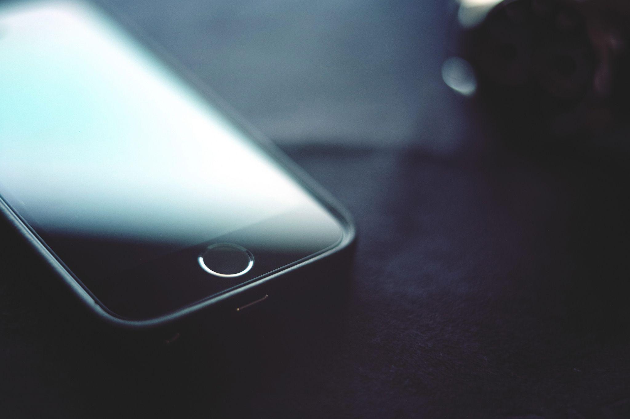 Closeup iPhone Telephone Smartphone 5s