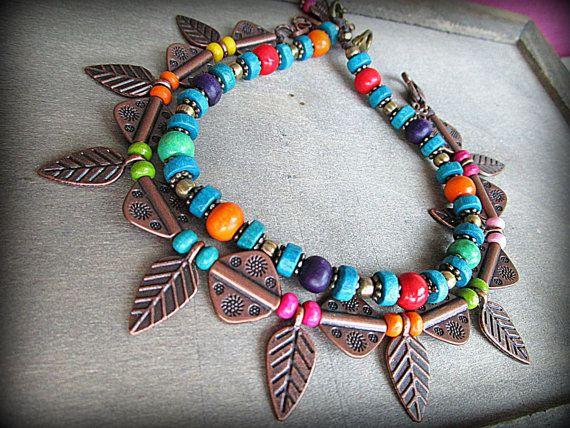 Boho Fußkette böhmischen Knöchel Armband Hippie Fußkette von FiArt