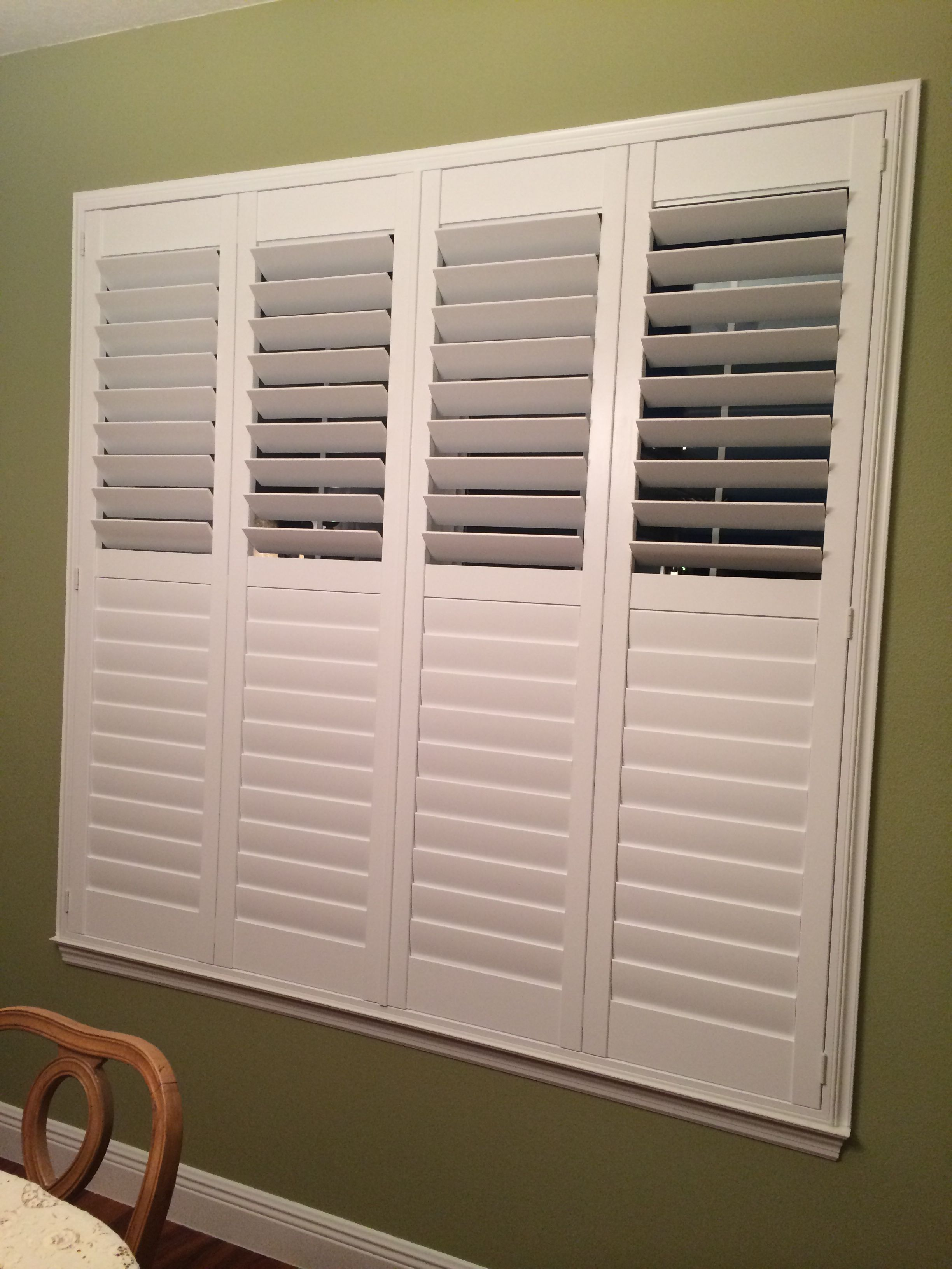 Plantation Shutters With A Divider Rail Allow More Control