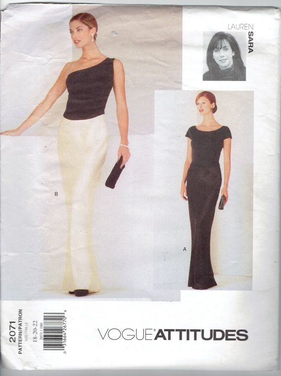 Vogue Attitudes Off the Shoulder or Cap Sleeve by MiAbDryGoods