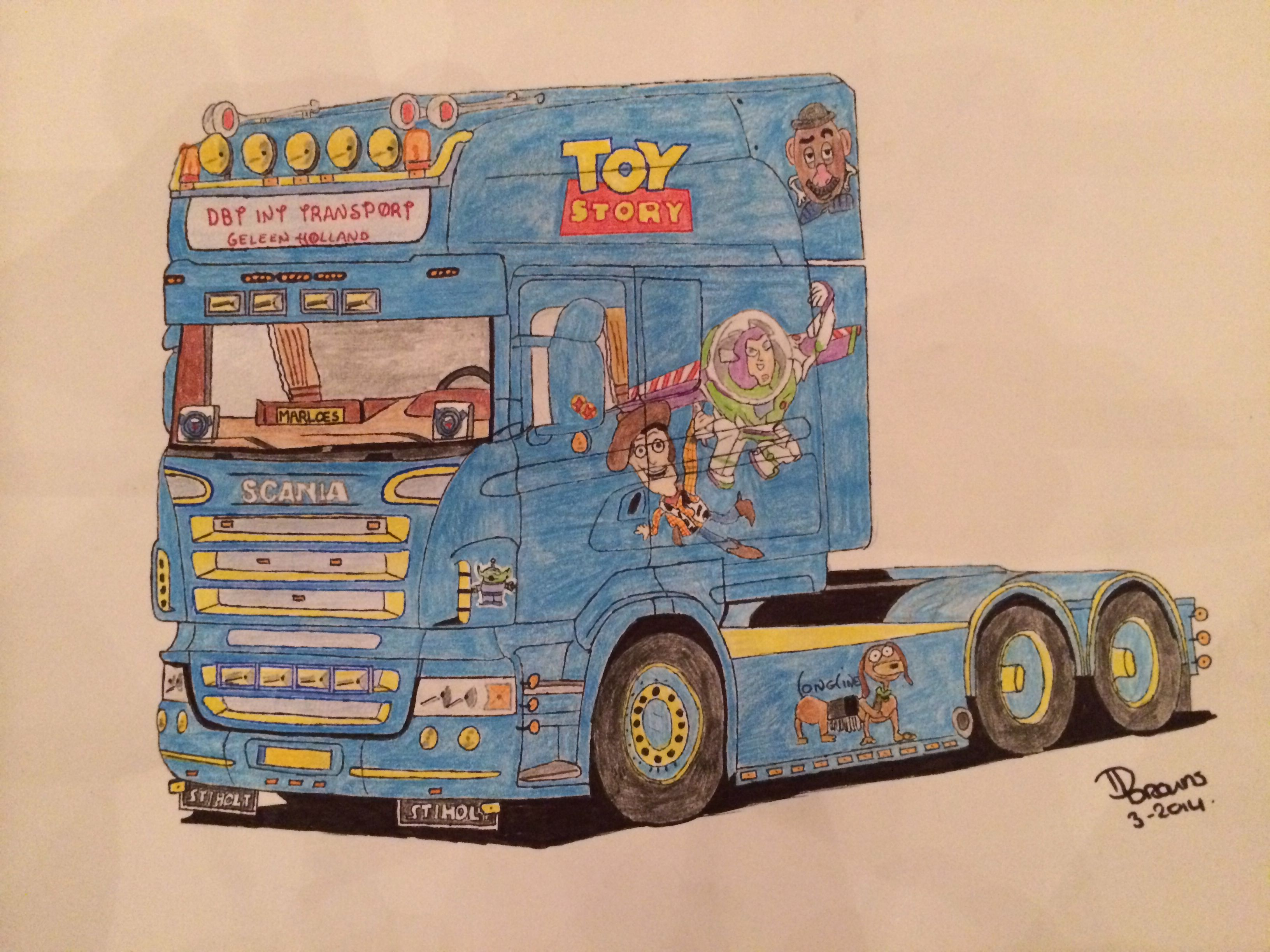 Scania Longline Toy Story Truck Art My Drawings Cars And Motorcycles