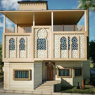 Islamic Villa Rendering Google Search Islamic Architecture Architecture Courtyard House
