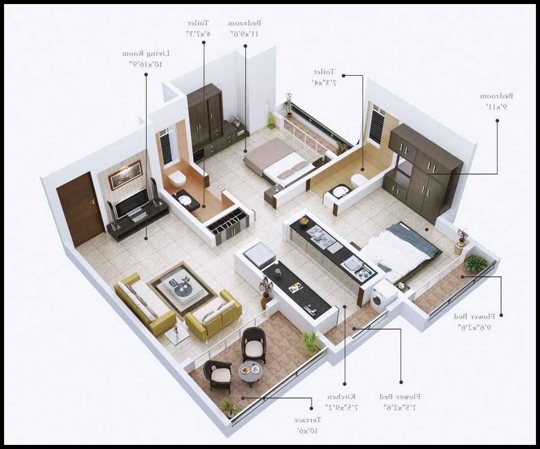 Desain Rumah Minimalis 2 Kamar Tidur Sederhana Cek Bahan Bangunan