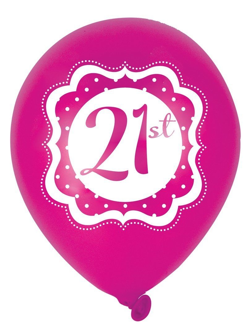 Perfectly Pink Happy 21st Birthday 10 Inch Latex Balloons X 6 Amazoncouk Toys Games