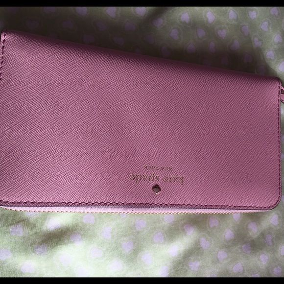 Kate Spade Wallet Brand new, light pink and very cute kate spade Bags Clutches & Wristlets