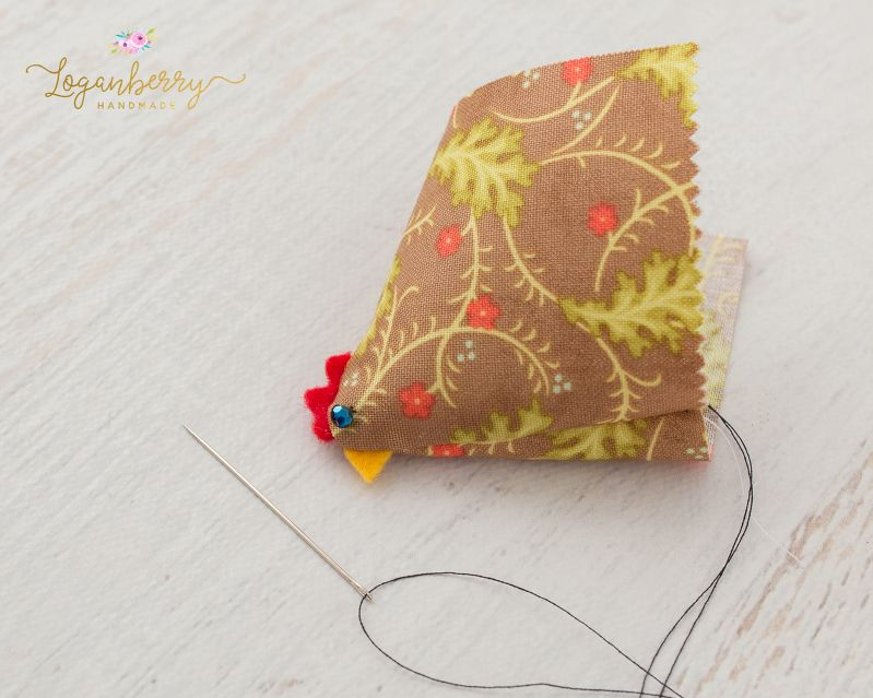 chicken pin cushions tutorial, free sewing pattern and tutorial, how ...
