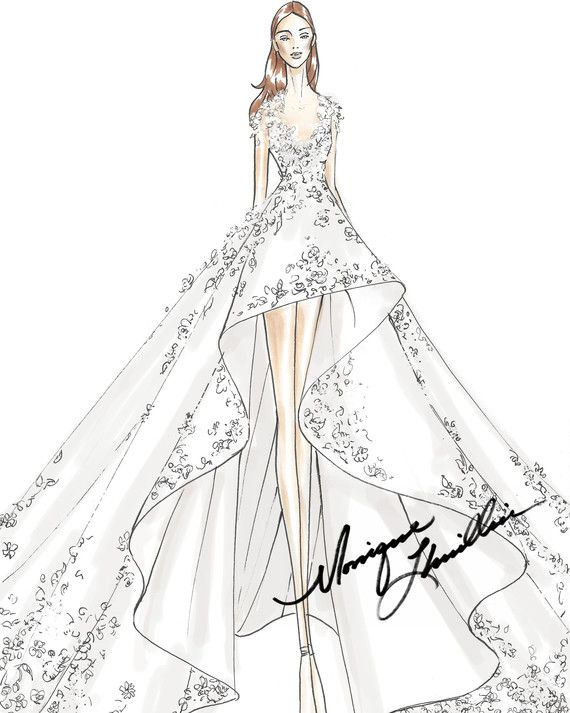 Exclusive First Look Moda Operandi Tiffany Co S Bridal Capsule Collection Wedding Dress Drawings Fashion Drawing Dresses Fashion Illustration Dresses