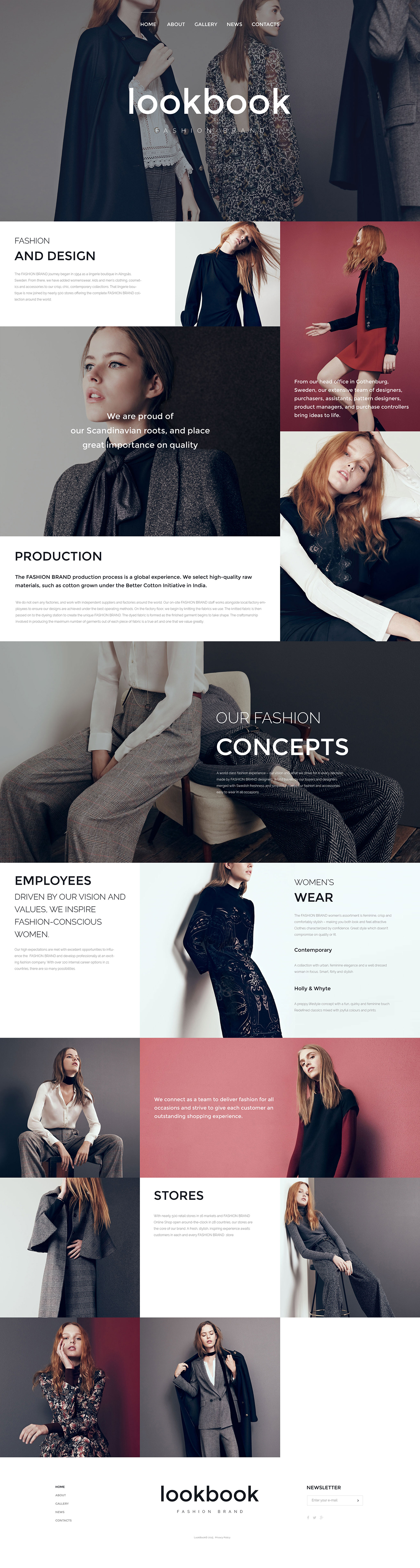 Fashion Responsive Website Template on Behance