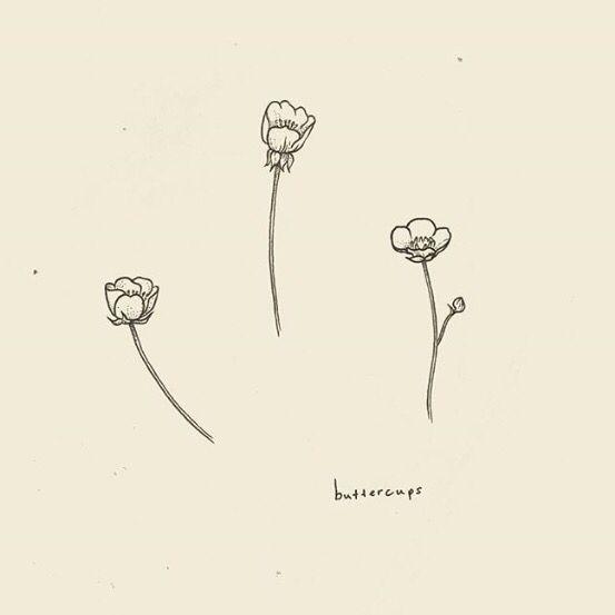 Minimalist Simple Flower Circle Tattoo: Buttercup Tattoo, Friend Tattoos