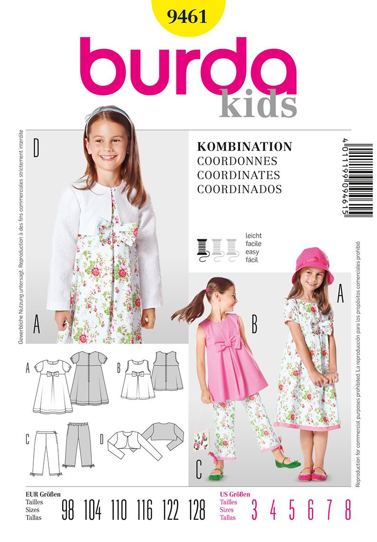 Burda Kids Pattern #9461   Art & Craft - Dressmaking   Pinterest