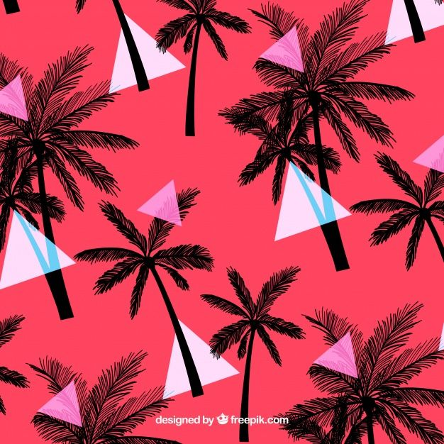 Download Elegant Tropical Pattern With Vintage Style for free