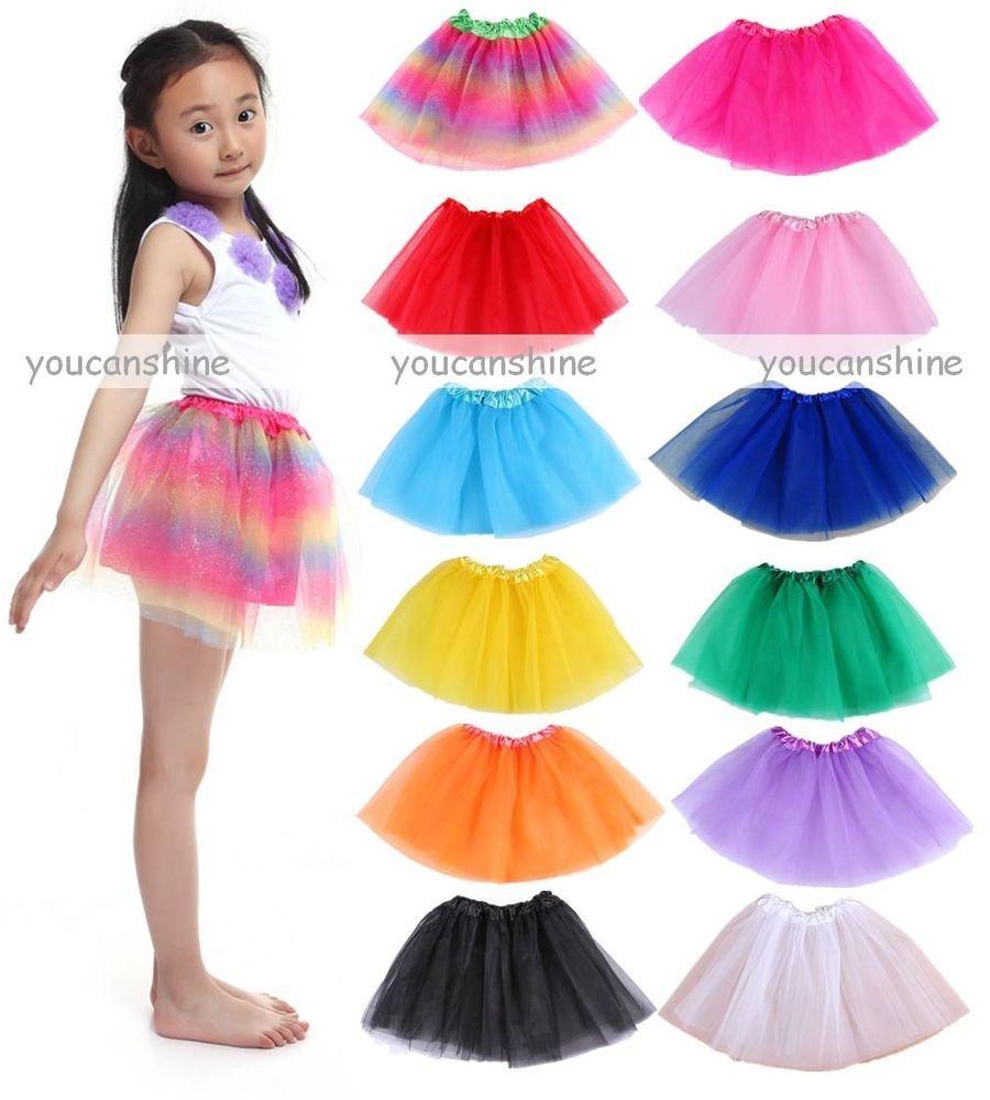 Kids Tutu Baby Pettiskirt Dance Girl Skirt Dancewear Ballet Clothes Outfit Dress