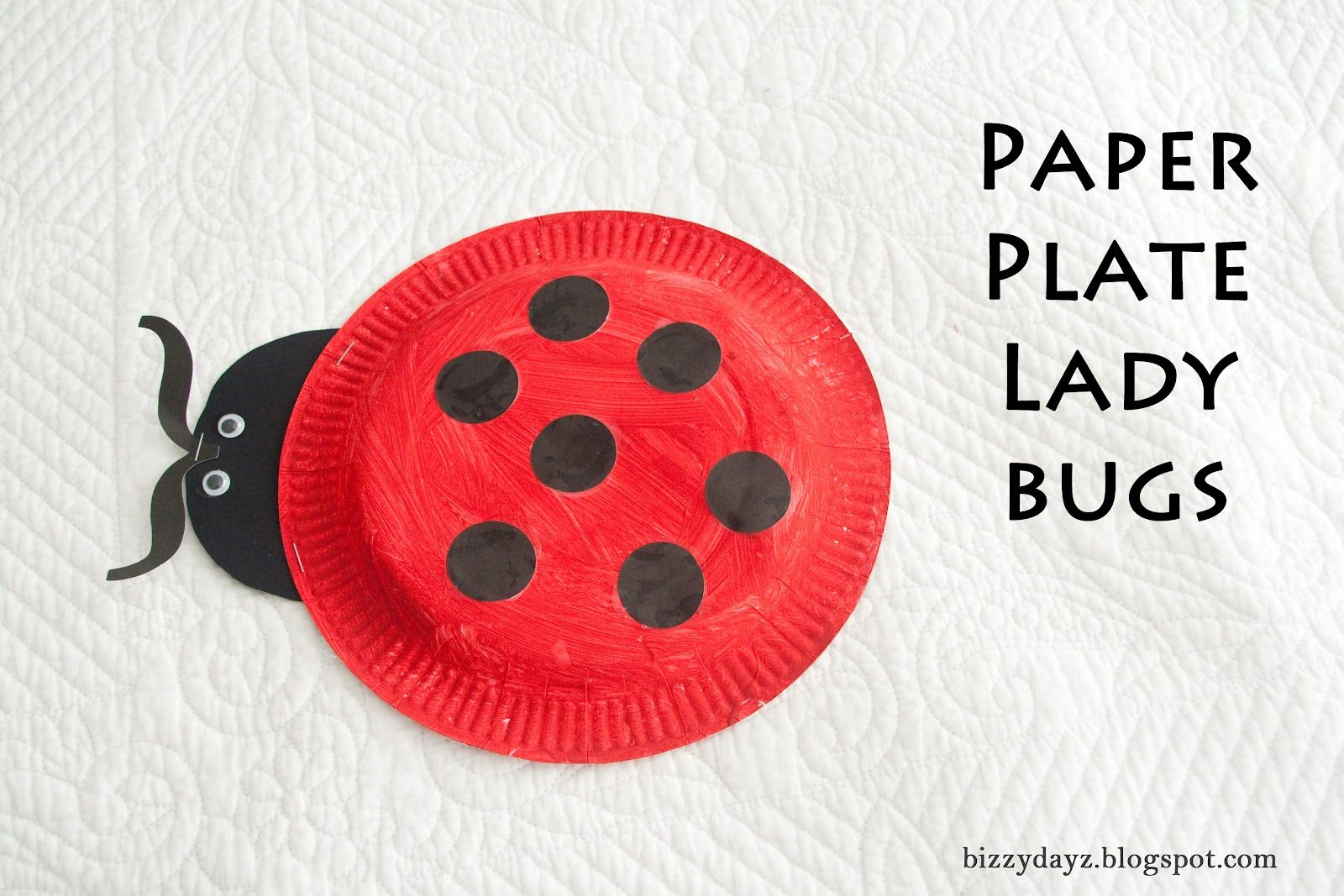 Bug Week Bizzydayz Paper Plate Lady Bugs