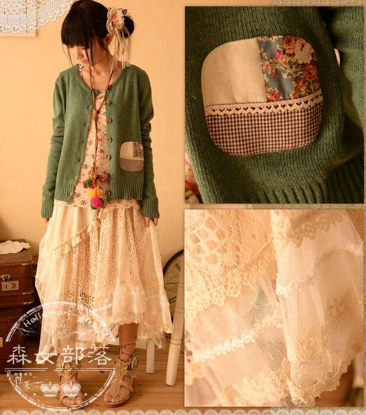 Mori Girl Fashion Style Japanese Bohemian Mori Girl