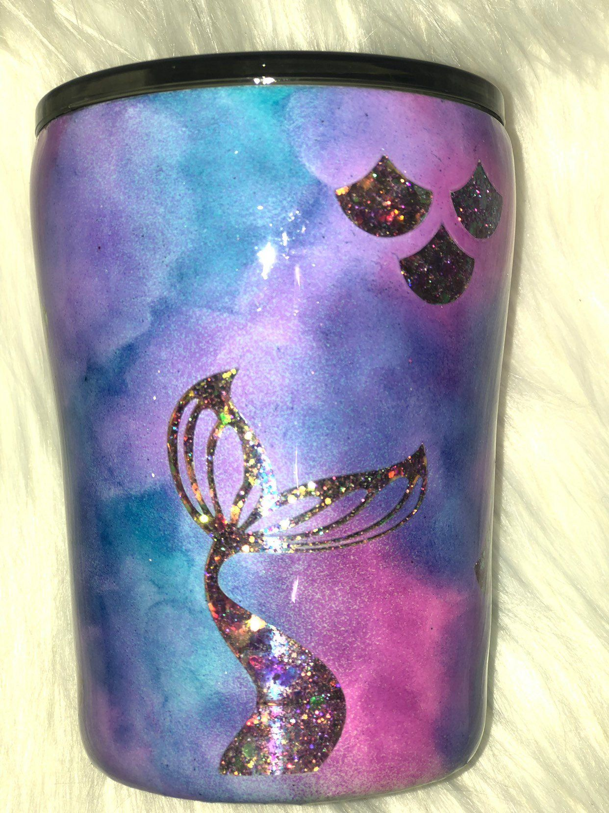 10 Oz Mermaid Peek A Boo Stainless Steel Tumbler Glitter Tumbler Makes A Great Gift Glitter Tumbler Stainless Steel Tumblers Tumbler