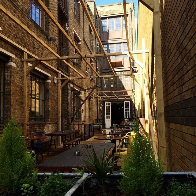 Tanner Warehouse Bermondsey the outdoor space is vcool