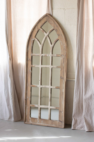 Large Salvaged Church Mirror Cathedral mirror, Home