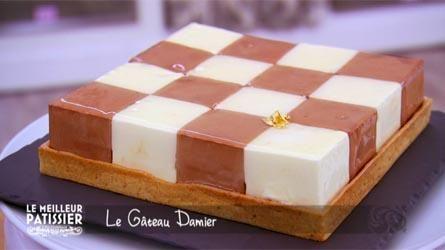 Recette gateau damier chocolat blanc