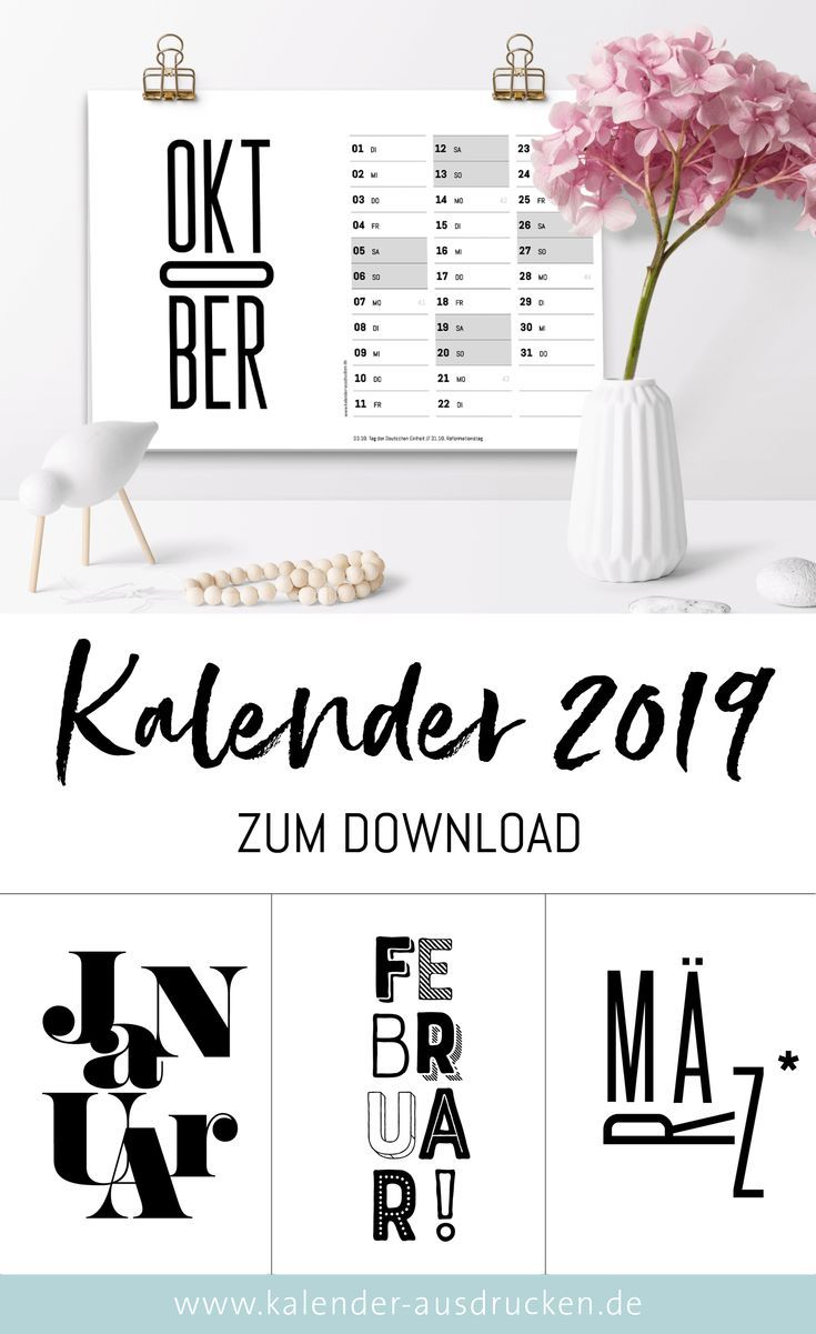 schwarz weiss kalender 2019 kalender. Black Bedroom Furniture Sets. Home Design Ideas