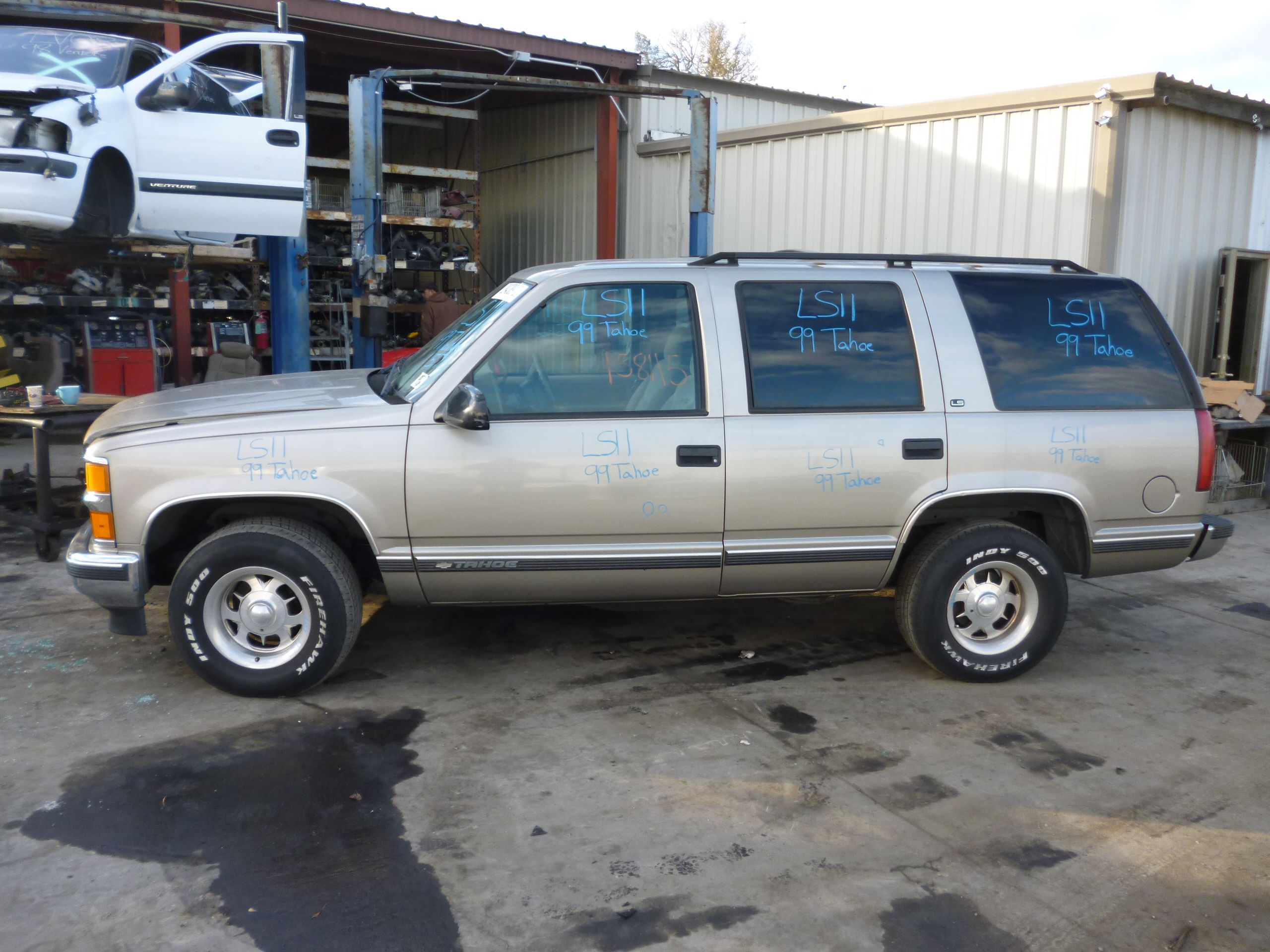 1999 chevy tahoe 4 door 2wd 5 7l 158k miles ball joint brake pads brake rotors brakes catalytic converter cold air intake control arm exhaust manifold fog