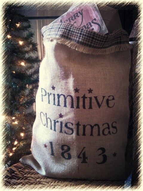 ~Santa's Primitive Toy Bag~ www.etsy.com/shop/countryviewprimitive