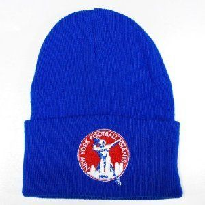 a854cf1bc New York Football Giants Football Blue Throwback 1950 Beanie Hat ...
