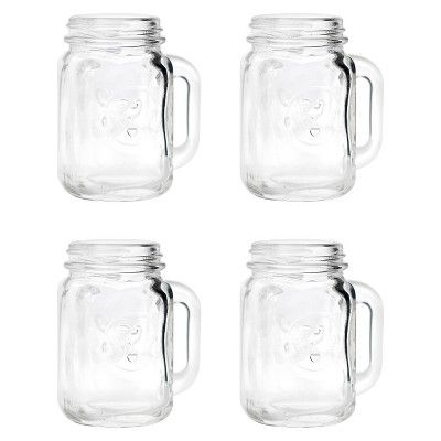 Find Product Information Ratings And Reviews For Mason Jar Shot Glasses 4 Ct Online On Target Com Mason Jar Shot Glasses Mason Jar Glasses Mason Jar Shots