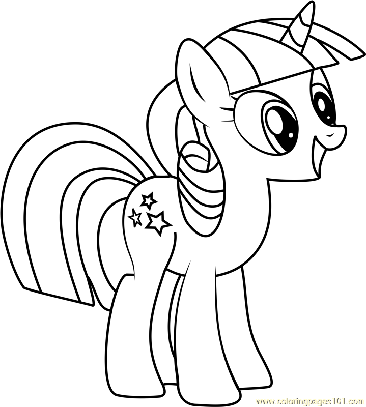 My Little Pony Coloring Pages Sunset Shimmer Gambar