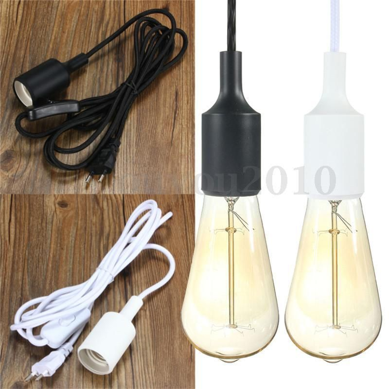 3m Plug In Hanging Lantern Cord Edison Light Socket Pendant Lamp Holder Bulb Eu Pendant Lamp Lamp Holder Hanging Lights