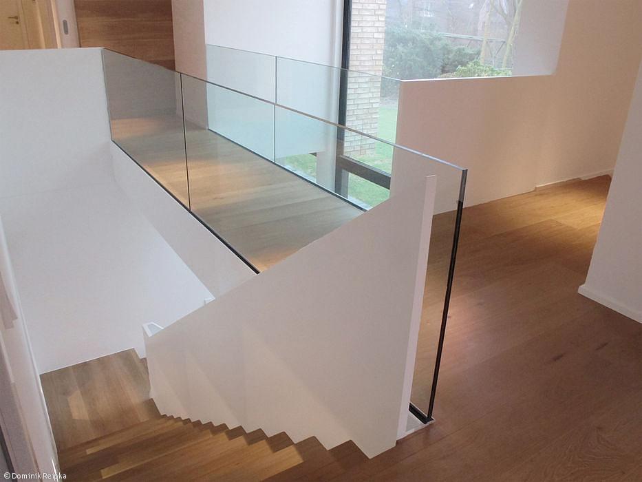 Gemauerte Treppengeländer kragarmtreppe kenngott stufen eiche dickfunier unsere