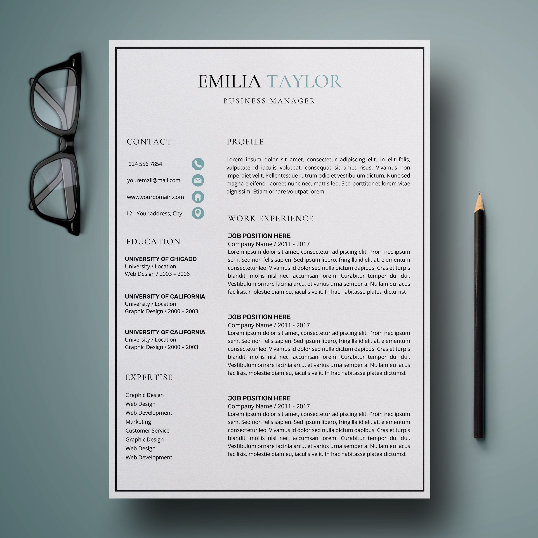 Resume Template CV Template Resume CV Design