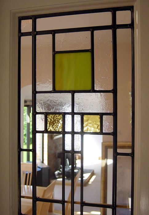 Art Deco Stained Glass Panels Internal Stained