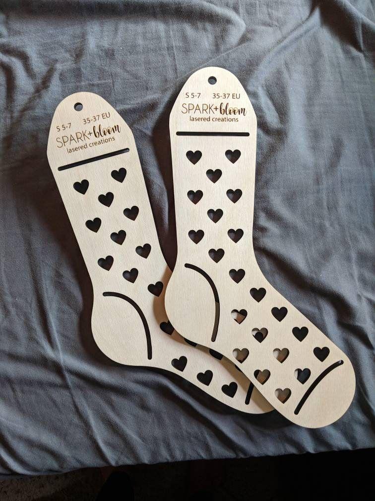 6 Sock Blockers for Knitting 3 Pairs Wooden Sock Blockers Medium