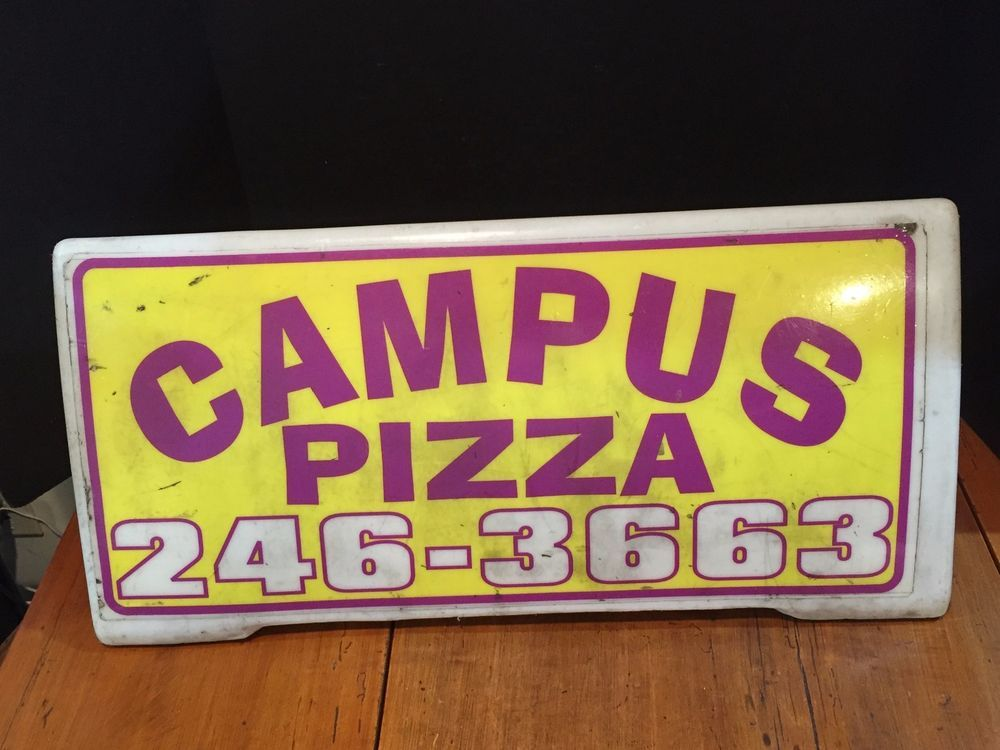 """The sign measures about 11"""" tall and the base is about 25"""