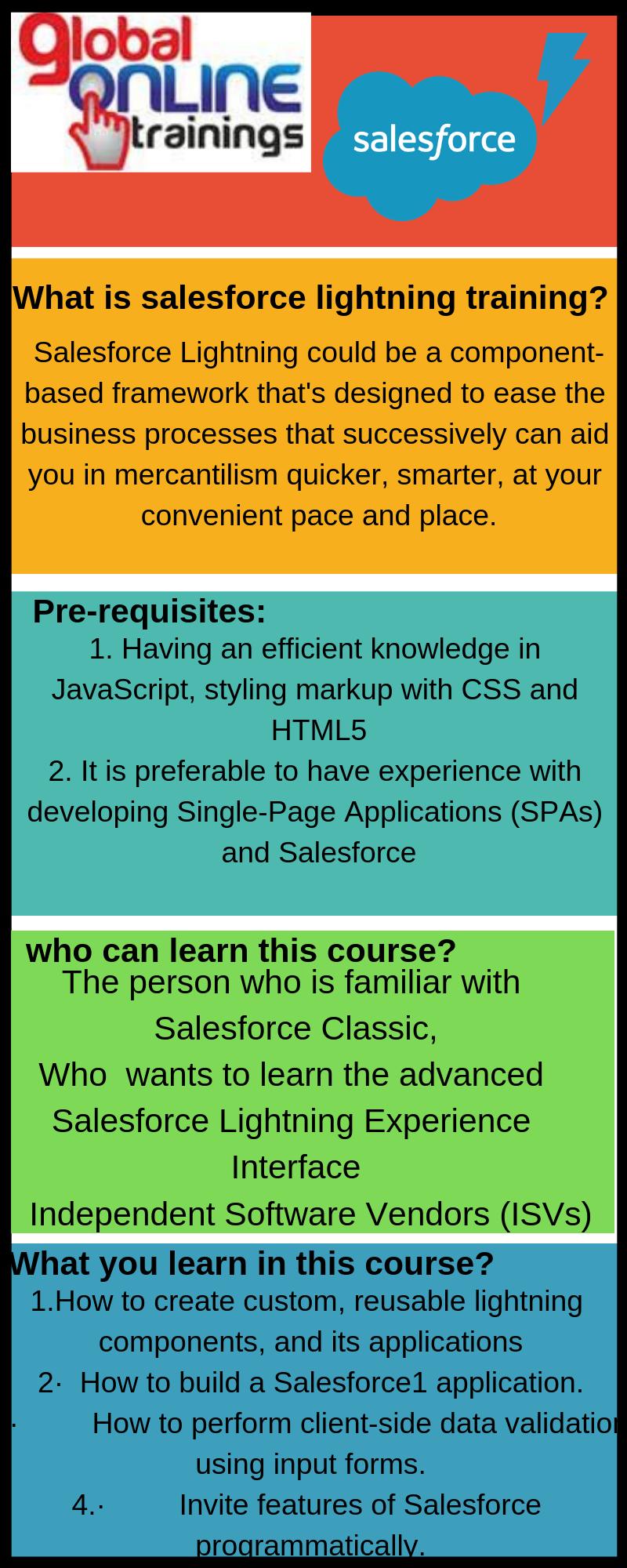 Salesforce Lightning Training Is A Framework We Offer Salesforce Lightning Developer Training Lightning Corporat Salesforce Corporate Training Online Training