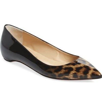9ce71667bf0 Designer Shoes - Christian Louboutin Leopard Black Pigalle Follies  Pointy  Toe Flats Size EU 39.5