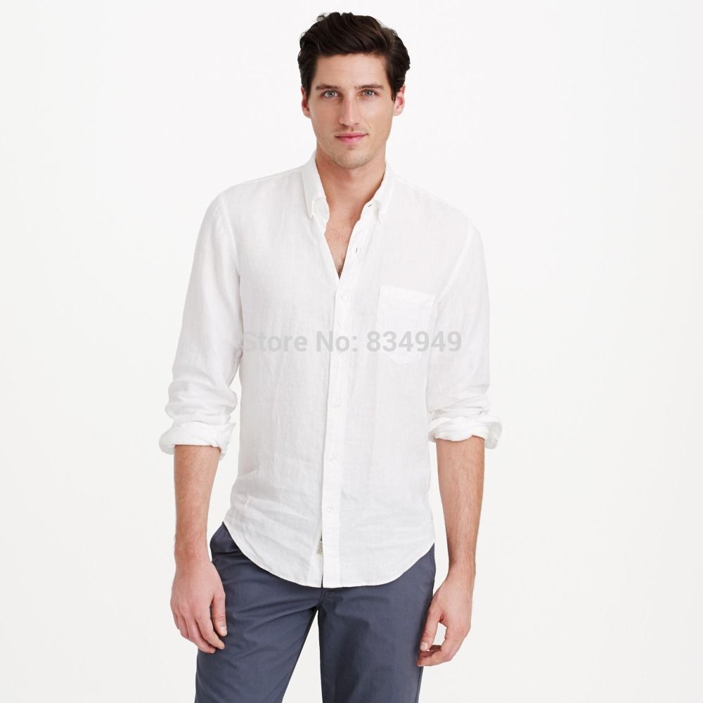 Linen Shirt Men Shirts Tailor Made,Custom White Linen Shirts Mens ...