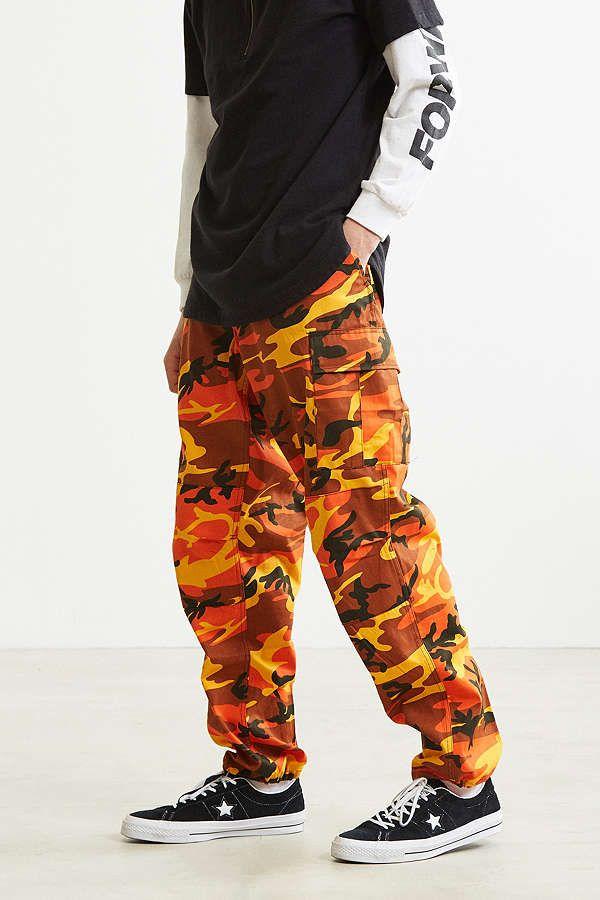 0264cf72da Cargo Pants Men · Camouflage Pants, Camouflage Colors, Orange Camo Pants,  Pink Pants, Sweatpants Outfit,