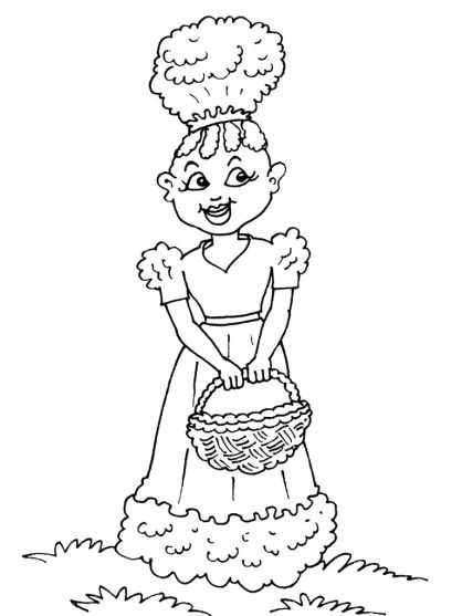 Coloriage petite africaine 29 rachester home academy homeschool needs pinterest - Dessin africaine ...