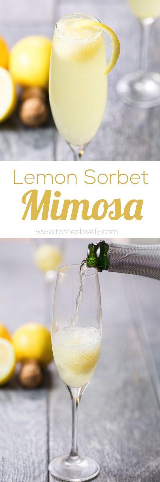 Lemon Sorbet Mimosa Mocktail Sweet, refreshing, and fun to ...