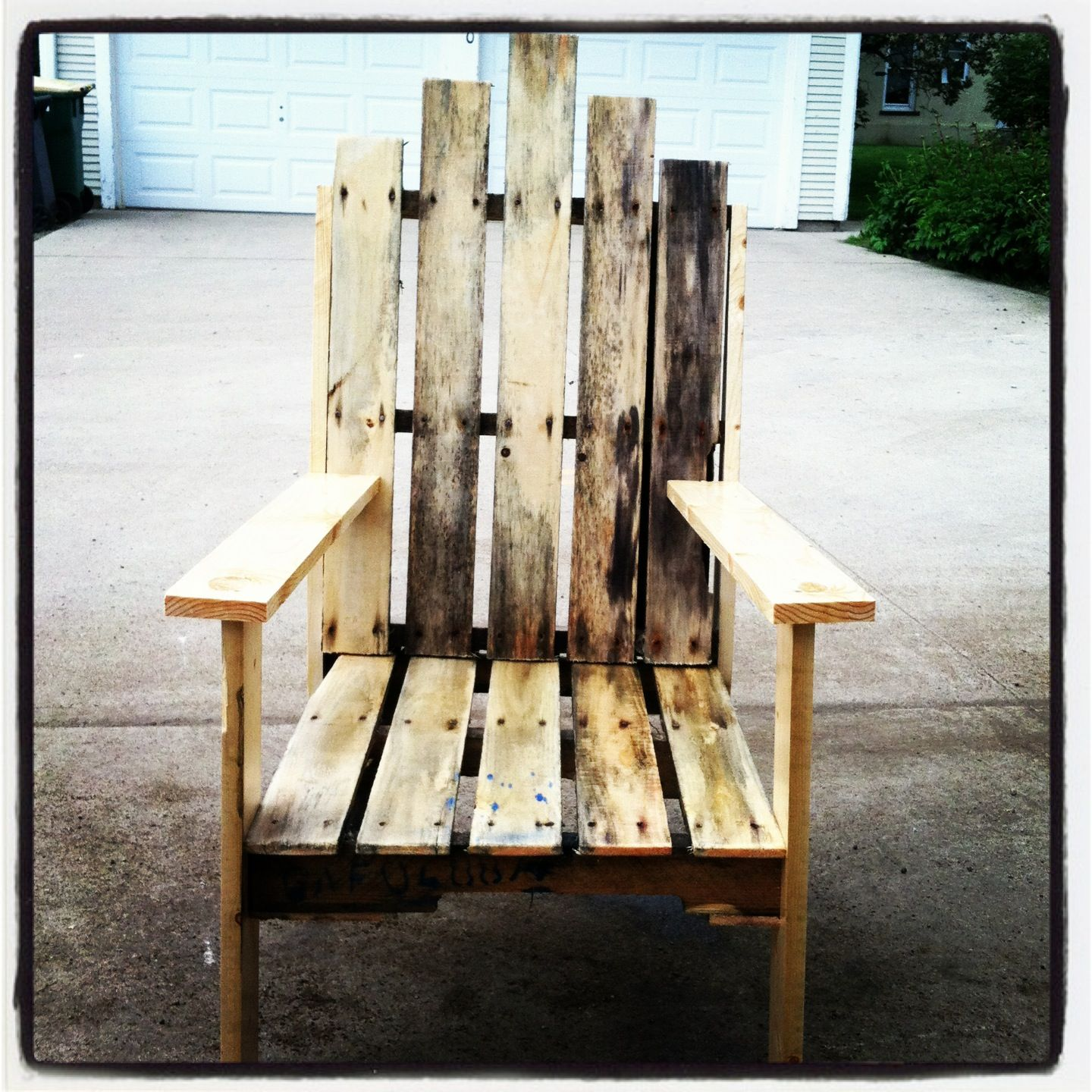 Pallet Wood Chair Rail Make Your Own Bean Bag And Reclaimed Creations Pinterest