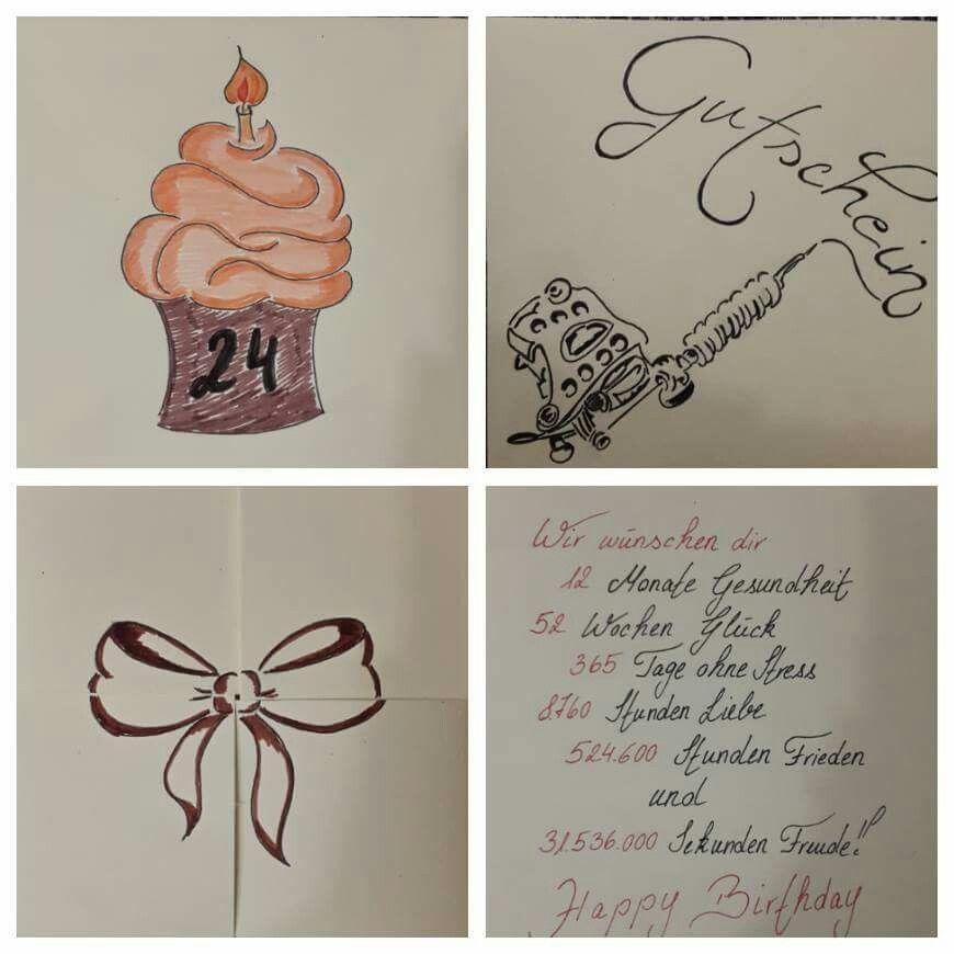 tattoo gutschein geburtstagsgeschenk bissle zeichnen und. Black Bedroom Furniture Sets. Home Design Ideas