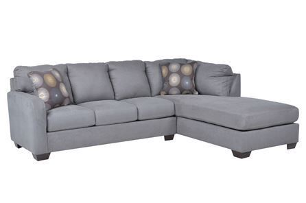 Zella Charcoal 2 Piece Sectional W/Raf Chaise - Signature