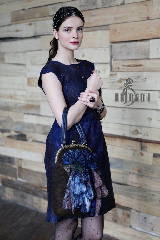 Валяная сумка «Blooming gadens» - Irina Demchenko - Ярмарка Мастеров