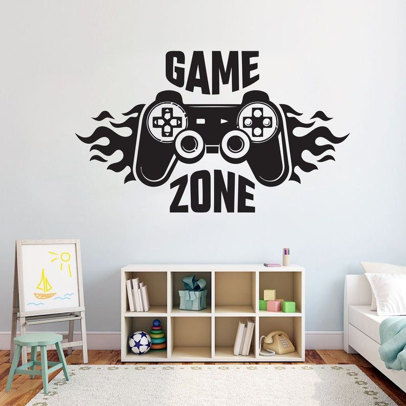 Eat Sleep Game Wall Decal Controller Video Game Gamer Vinyl Stickers gaming room