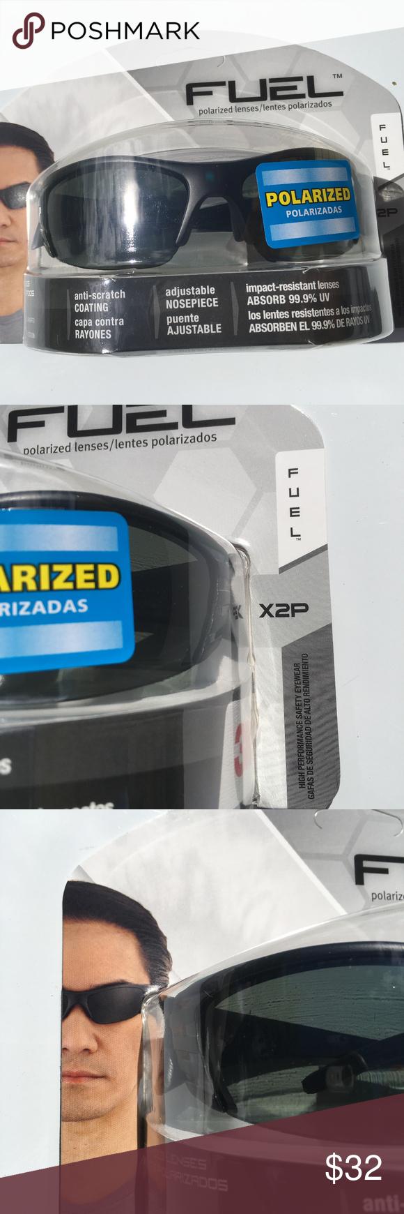3M Fuel X2P black Polarized Safety Sun Glasses NWT