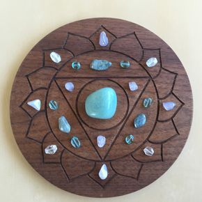°5th throat chakra crystal grid  crystal grid stones and
