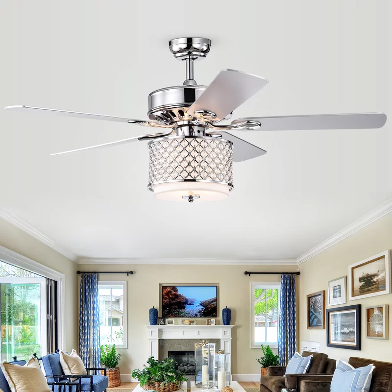 """52"""" Matheson 5 Blade Ceiling Fan with Remote Control and"""
