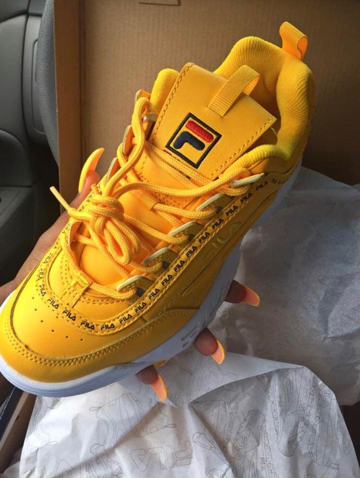yellow fila shoes | Trending shoes