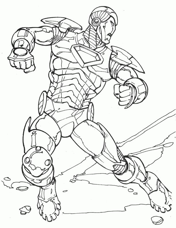 Iron Man Coloring pages for kids. Printable. Online ...